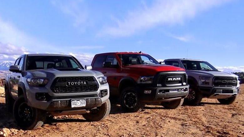 Ford, Ram dhe Toyota, në garë nëpër terren të vështirë (Video)
