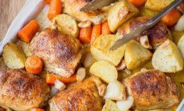 Pulë dhe patate të pjekura