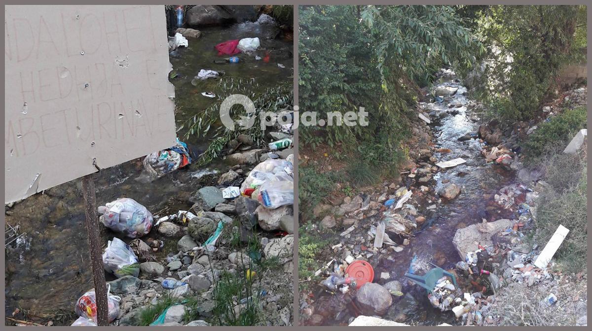 Shqetëson ndotja e lumenjve të Opojës (Foto&Video)