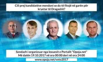 Sondazh: Cili prej kandidatëve do të fitojë në garën për Dragashin?