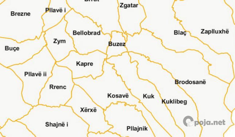 Bresana fshati me territorin më të madh në Opojë, Buzezi më i vogli