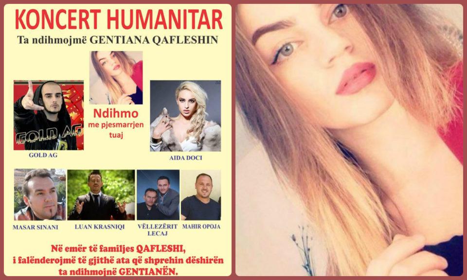 Koncert humanitar në ndihmë të Gentiana Qafleshi