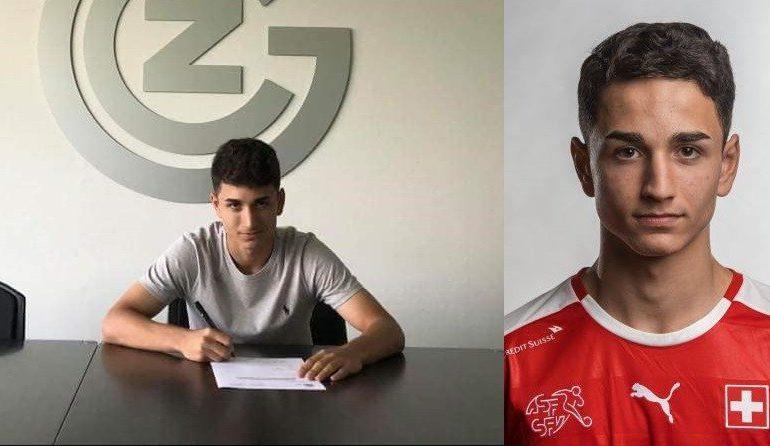 Talenti Mërgim Bajrami nga Zgatari, nënshkruan kontratë profesionale me Grashopersin e Cyrihut