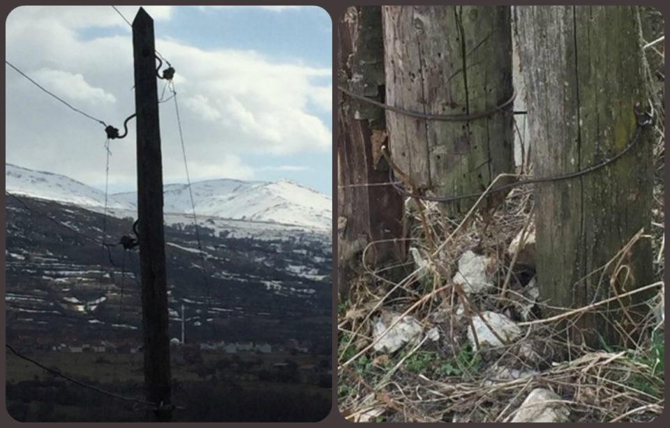 Rreziku nga shtylla elektrike në fshatin Brrut të Dragashit