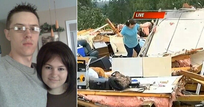 Heartbreaking find made under couple's bodies after tornado destroys their home