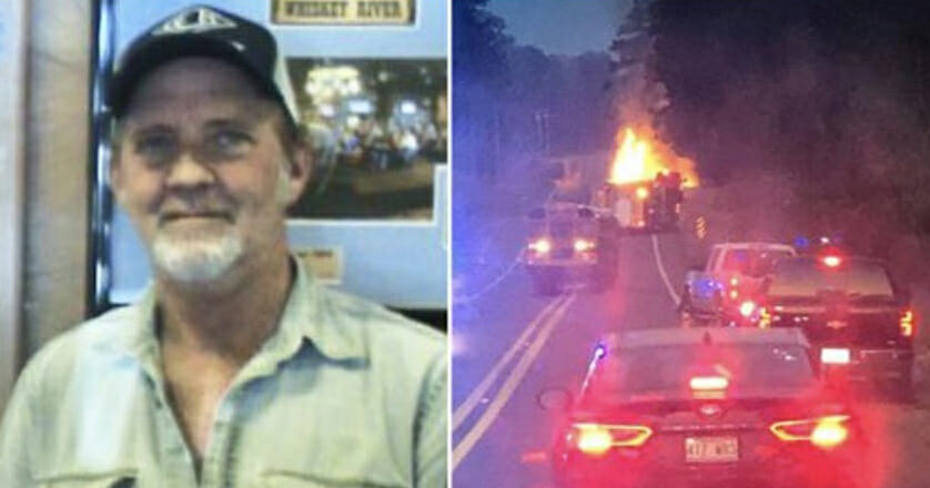 Brave truck driver sacrifices his live to drive burning truck away before it explodes, saving others