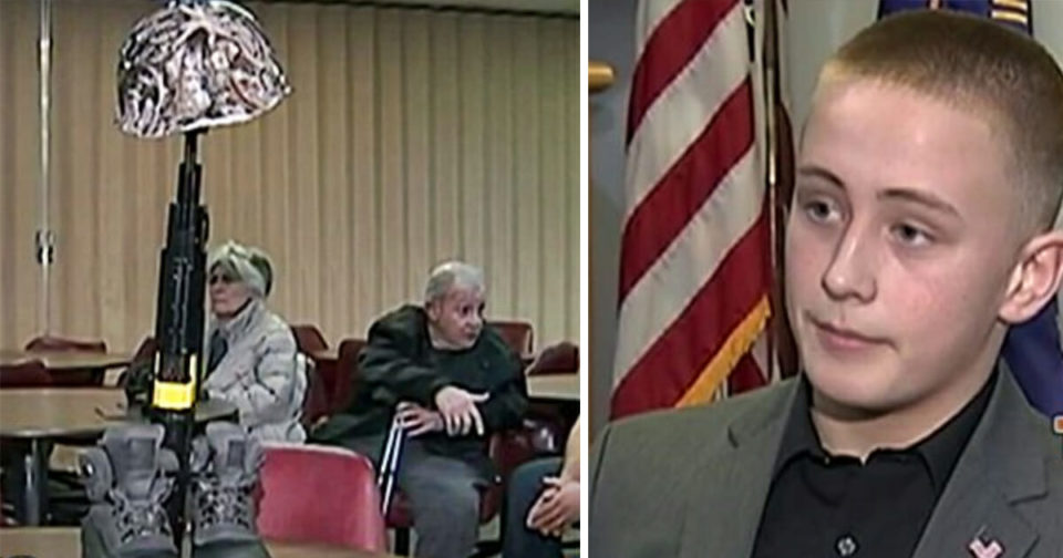 Middle schooler suspended after principal sees the veterans memorial he created