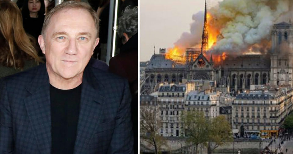 French billionaire vows to donate 3 million to rebuild historic Notre-Dame Cathedral