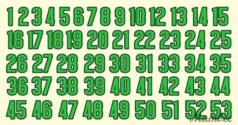 These seems like a regular sequence of numbers, except it is not! Can you find an error?