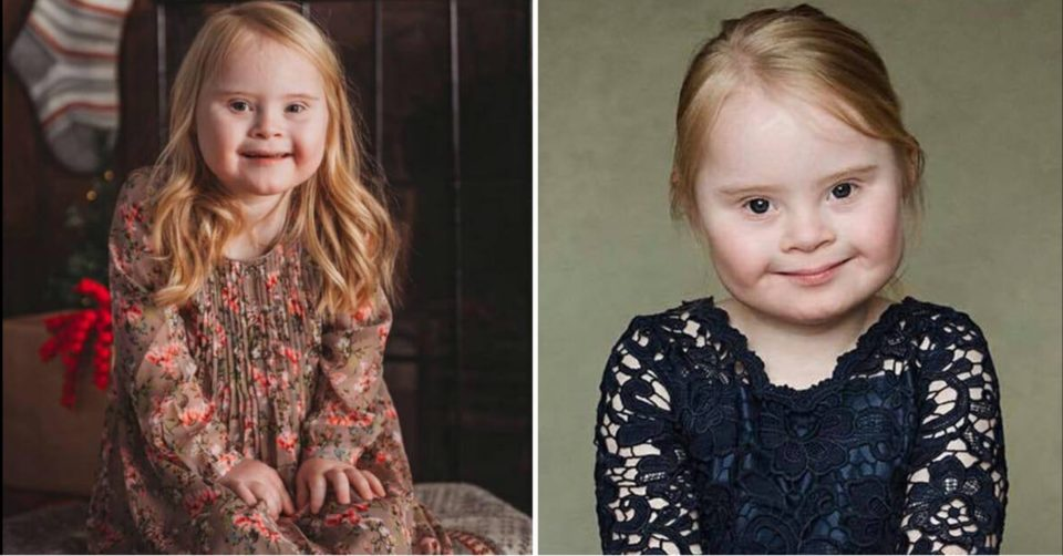 Meet little Grace, she is a 7-year-old with Down syndrome and she has a successful modeling carrier