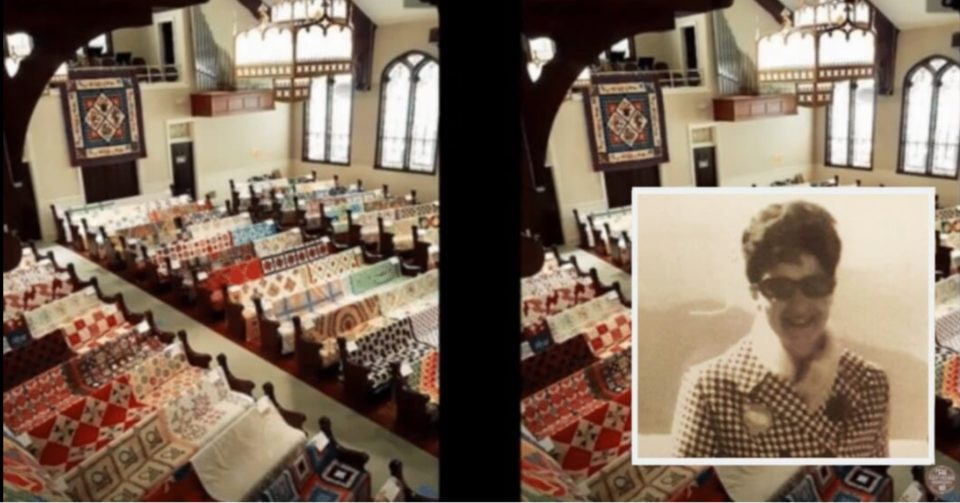 Family honors grandma's memory by covering church in all her quilts at her funeral