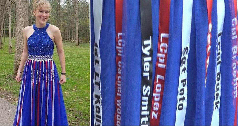 Teen pays tribute to fallen marines with handmade prom dress design – let's give her our blessings