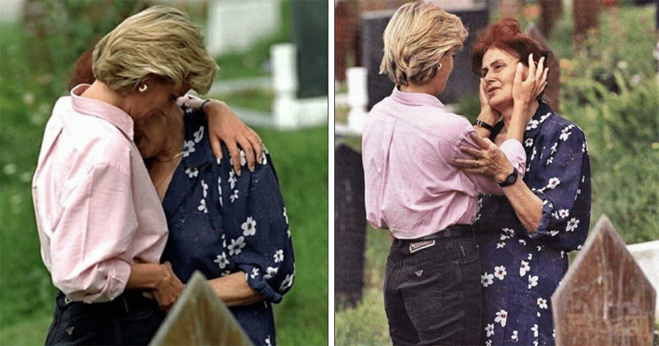 Princess Diana once stopped at a cemetery to comfort a woman crying at her dead son's grave