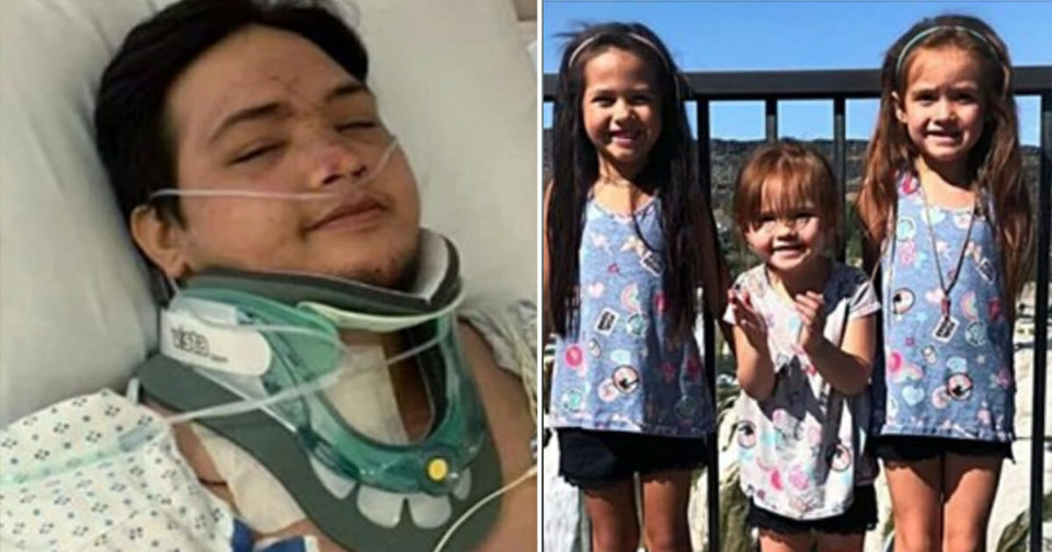 Dad wakes paralyzed from horror crash to find his 3 daughters have died – he needs all our prayers