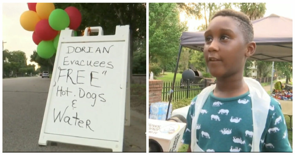 6-year-old gives up his birthday savings to help feed Hurricane Dorian evacuees