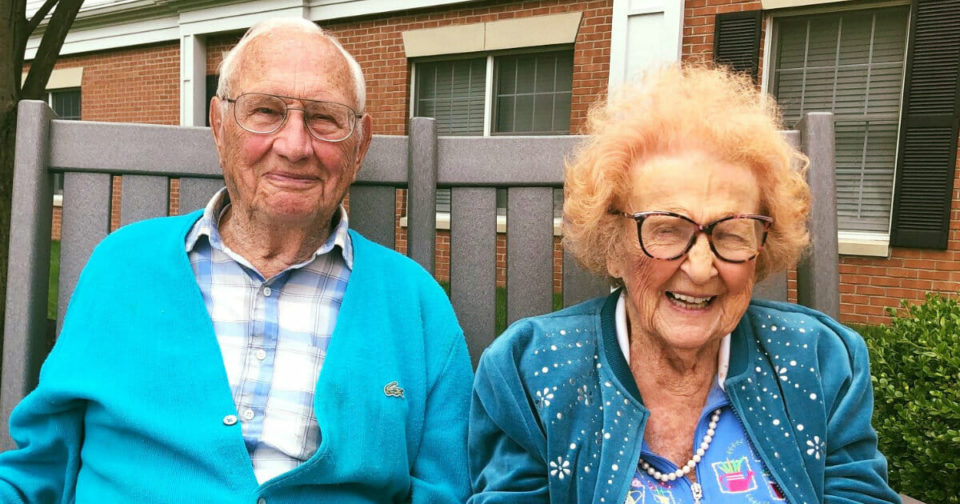 100 and 102-year-old couple falls in love in nursing home, ties the knot – send your congratulations