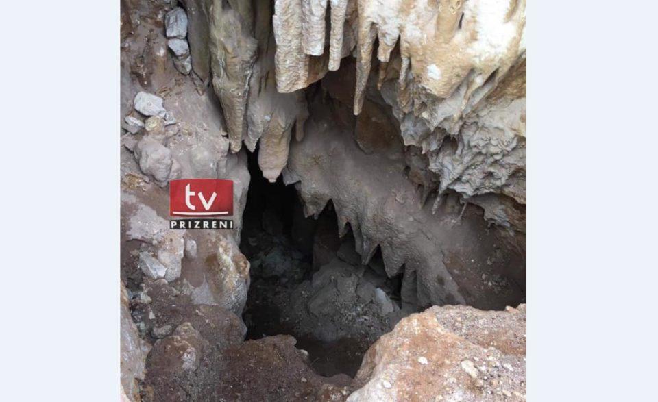 Zbulohet një shpellë gjatë punimeve në rrugën Zhur – Dragash (Video)