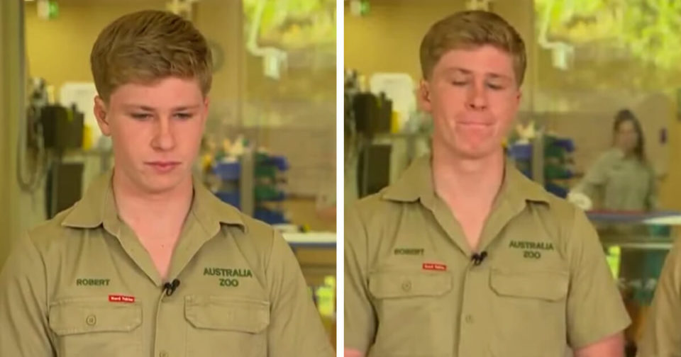 Robert Irwin struggles to hold back tears discussing impact of Australian bushfires