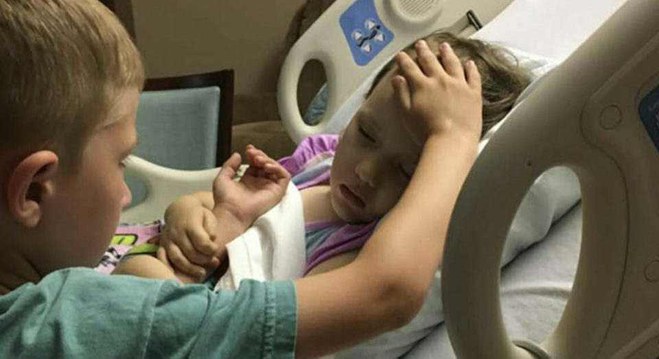 A 6-year-old Boy Says Goodnight For The Last Time To His Younger Sister