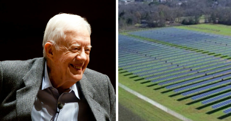 Jimmy Carter built a solar farm in his hometown and it powers half of an entire city