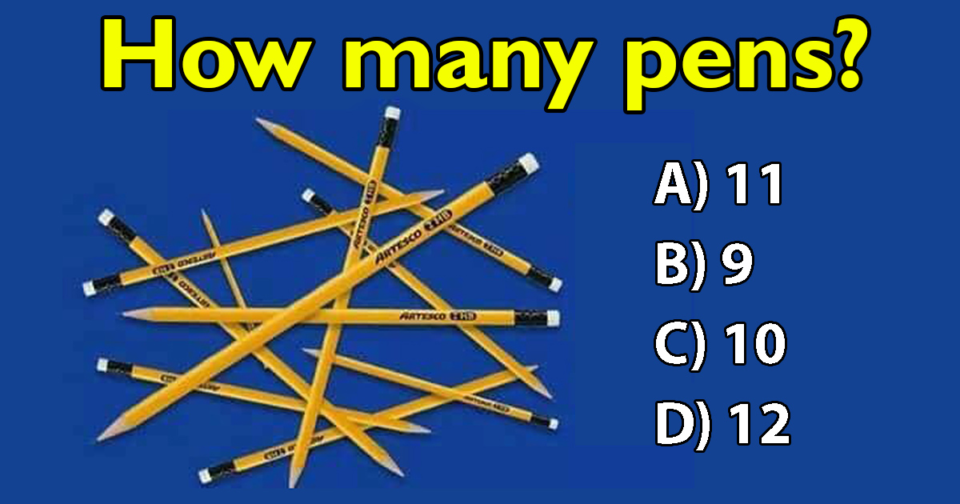 Very few people get this right: How many pens do you see?
