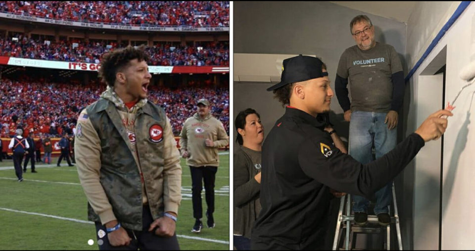 Super Bowl winner Patrick Mahomes builds houses for veterans in his free time – thank you❤️