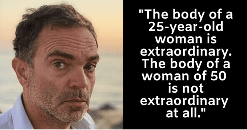 """51-year-old French author says women over 50 are """"too old"""" to be loved"""