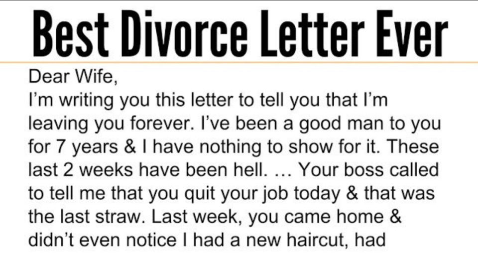 A Woman's Reply To A Husband Eloping With Her Sister