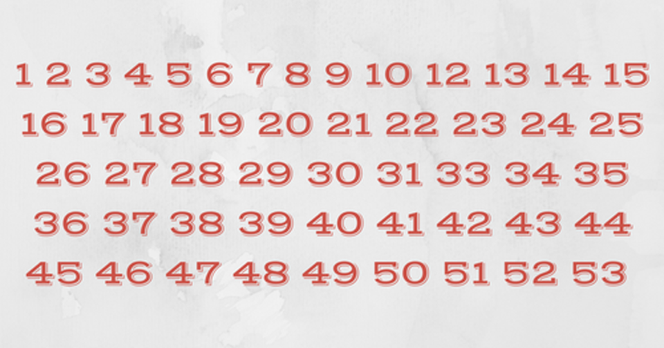 These numbers look completely normal, but something is very wrong: Can you spot it on the first try?