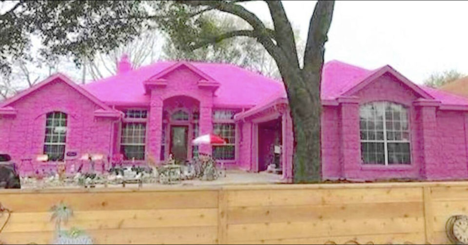 Man creates his dream home and upsets neighbors after painting it Pepto-Bismol pink