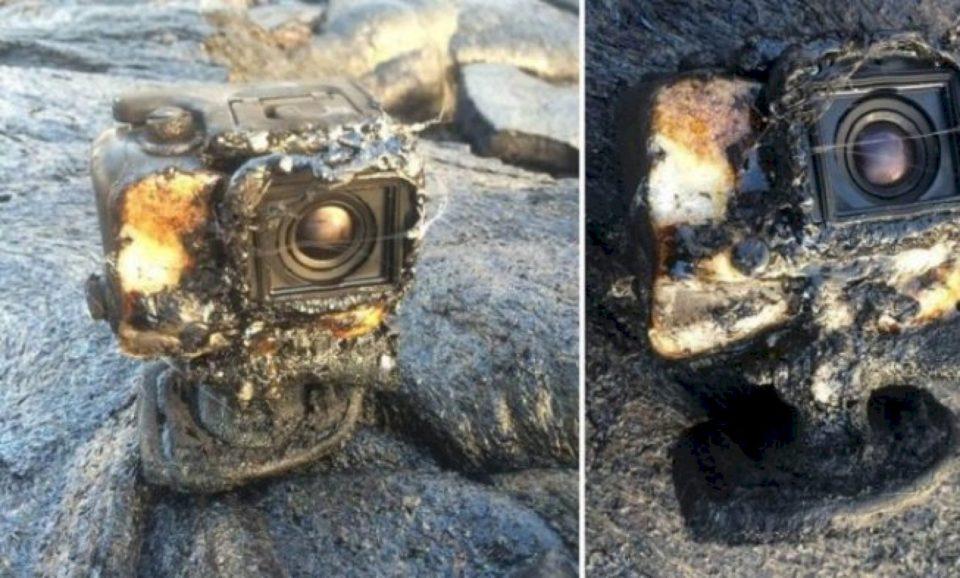 Kamera GoPro u kaplua nga llava, mbijetoi dhe regjistroi gjithçka