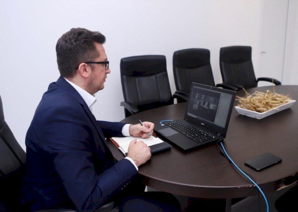 Mustafa takim virtual me përfaqësuesit e BE-së, ambasadës gjermane dhe GIZ-it