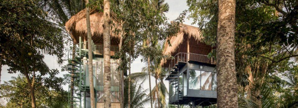 Shtëpia pemë në bali mikson arkitekturën tropikale dhe industriale