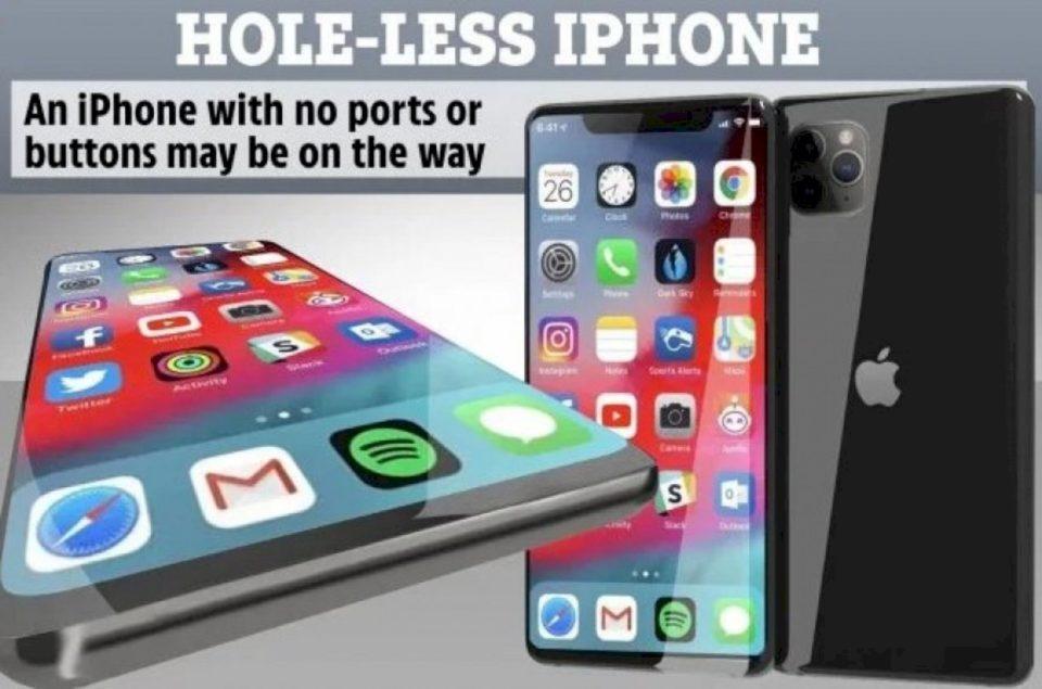 Apple një iPhone pa porte dhe vrima