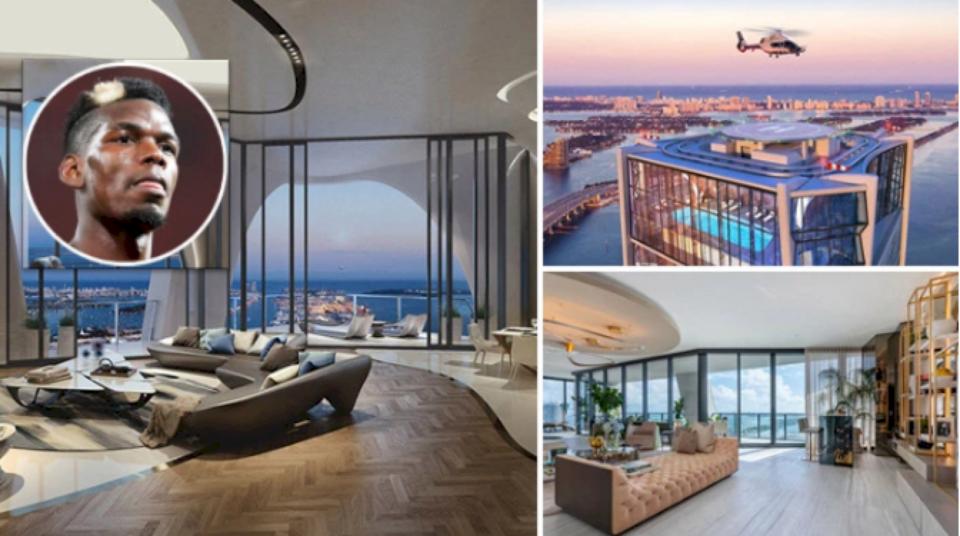 Foto nga apartamenti i ri luksoz i Pogbas në Miami