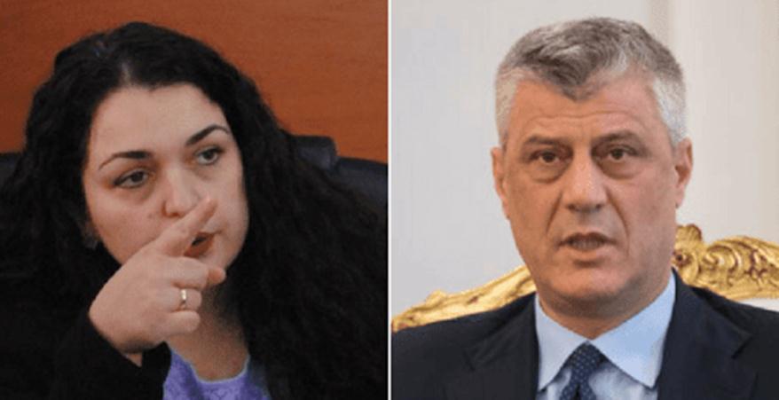 Thaçi: Vjosa Osmani duhet të djersitet nga shpifjet që po bën, nëse dikush nga kjo familje i ka shërby Serbisë, unë e kam luftu