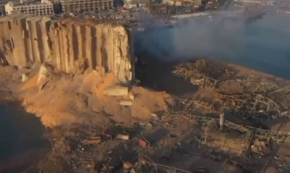 Pamje nga droni, ja çka i bëri qytetit të Bejrutit shpërthimi