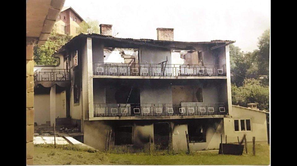 Djegia e shtëpive në Opojë gjatë luftës