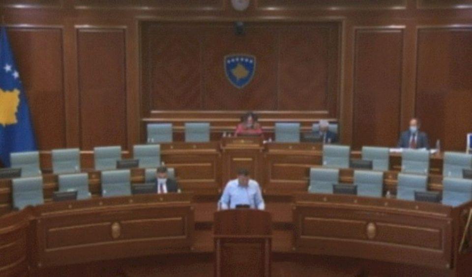 Vetëm dy anëtarë të Qeverisë shkojnë në Kuvend në seancën për arsimin