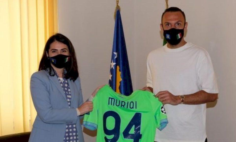 Muriqi befason me vizitë Ambasadoren e Kosovës në Itali