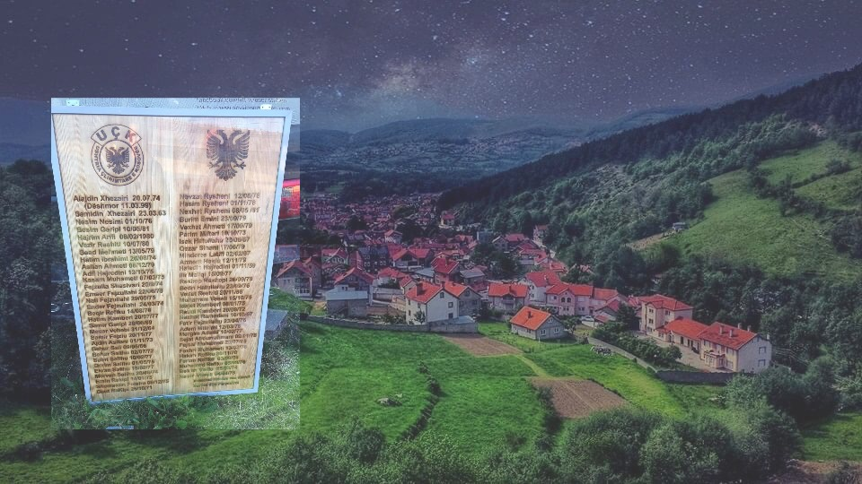 Pllakat e 60 Ushtarëve të UÇK-së nga Bresana e Opojës