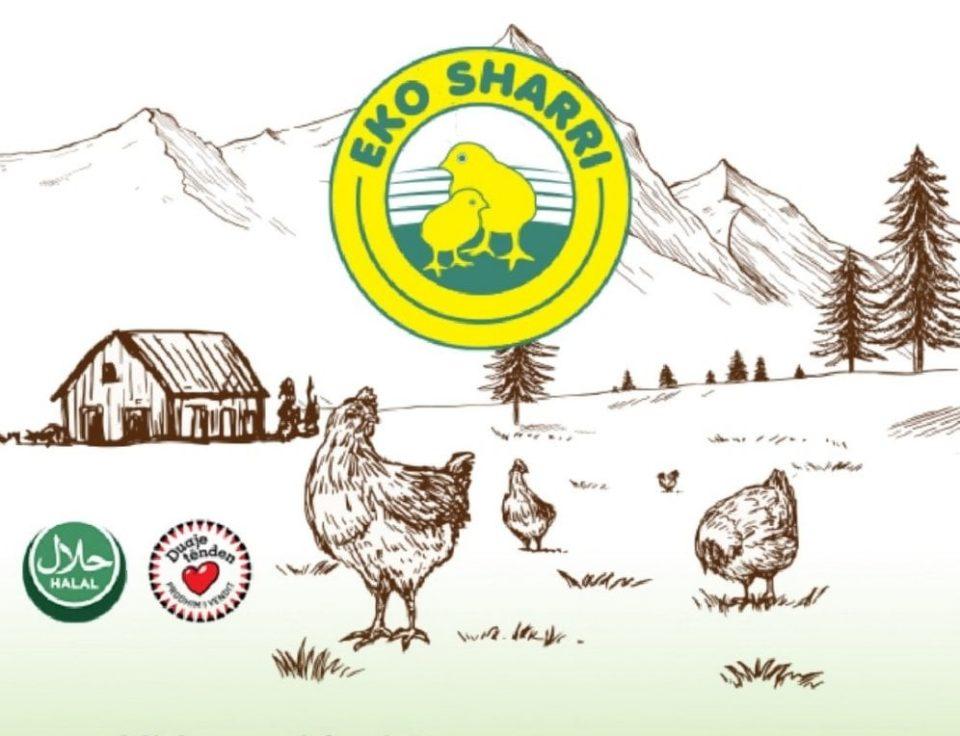 Eko Sharri përveç se bën shitjen e mishit të zogut-pulës kujdeset edhe për shëndetin e konsumatorëve të tij