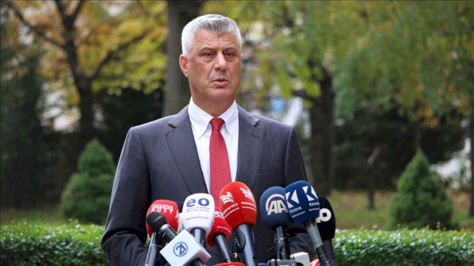 Presidenti i Kosovës, Hashim Thaçi, jep dorëheqje
