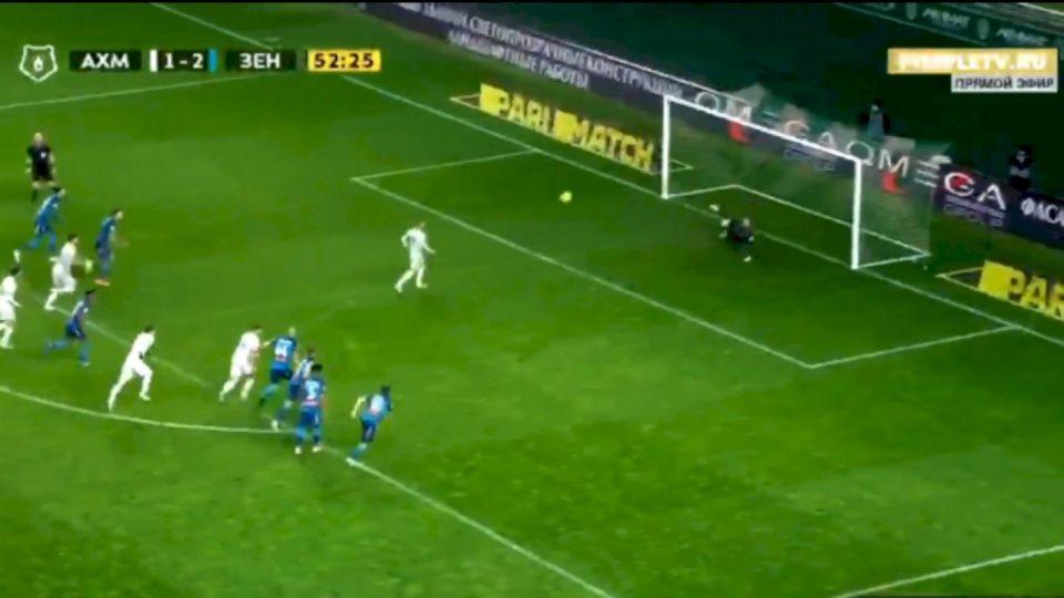 Bernard Berisha turpëron portierin e Zenitit, i shënon gol fantastik me 'panenka'
