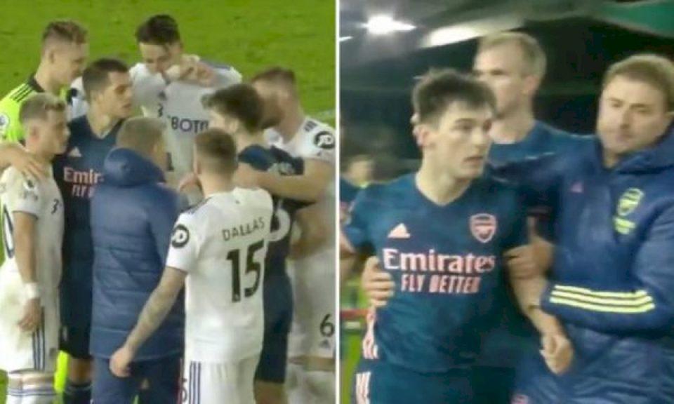 Alioskit i vërsulet futbollisti Arsenalit në fund të ndeshjes, ndërhyn Xhaka