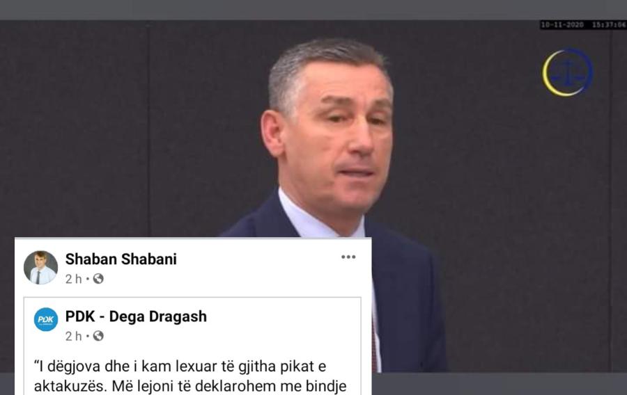 Kryetari Shabani 'mbështet' deklaratën e pafajësisë të Kadri Veselit në Hagë