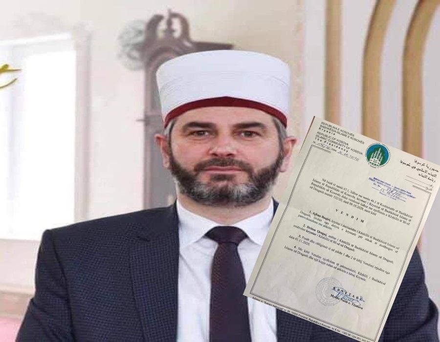 Imami i xhamisë qendrore në Dragash emërohet kryetar i ri i Këshillit të Bashkësisë Islame