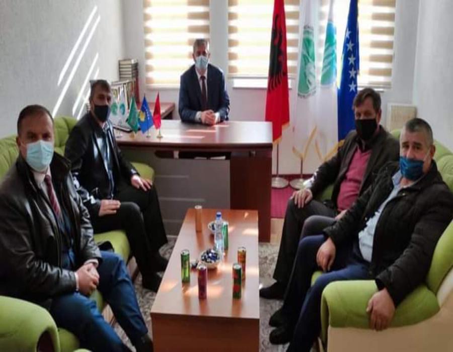 Shaban Shabani i shkon për urime kryetarit të ri të Bashkësisë Islame në Dragash