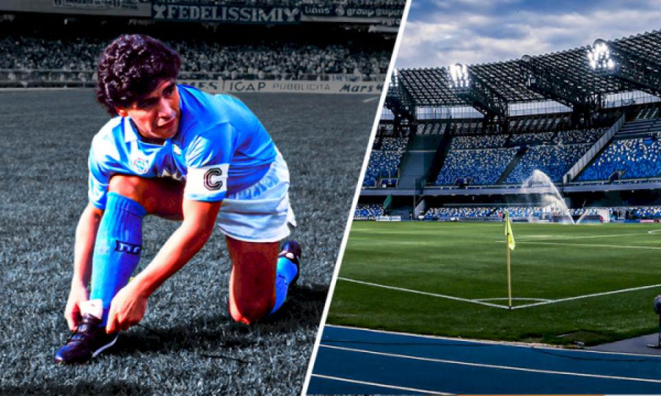 """Stadiumi i Napolit do ta mbajë emrin """"Diego Armando Maradona"""" nga ndeshja e ardhshme e napolitanëve"""