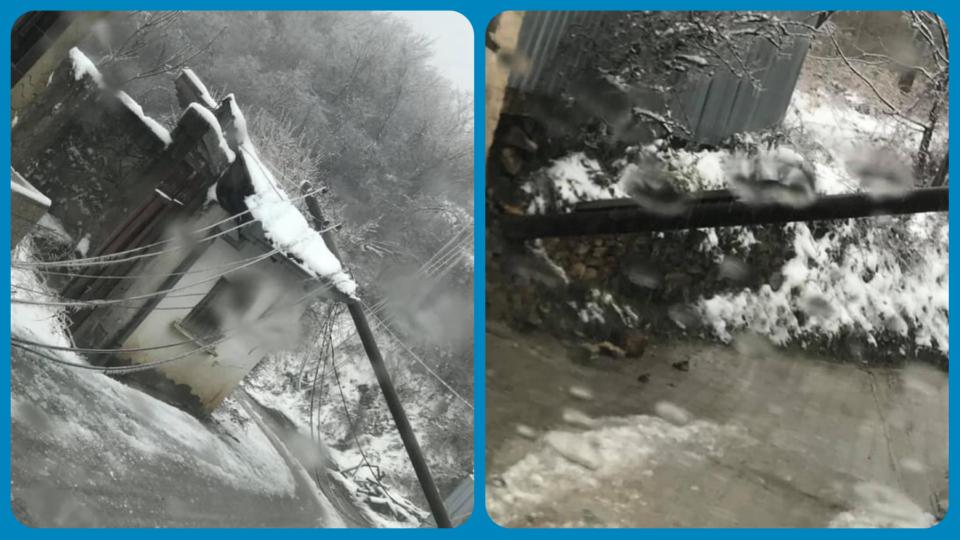 Rrëzohen disa shtylla elektrike në fshatin Brezne